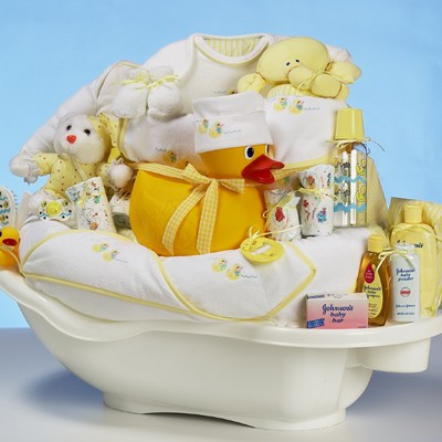 gift basket baby shower invitation