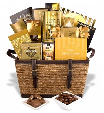 gourmet food gift basket that allows sweet indulgence!