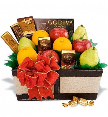 gourmet fruit gift basket